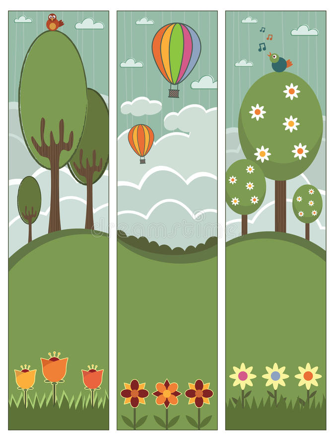Download Vertical banners stock vector. Image of copy, petal, landscape - 9645567