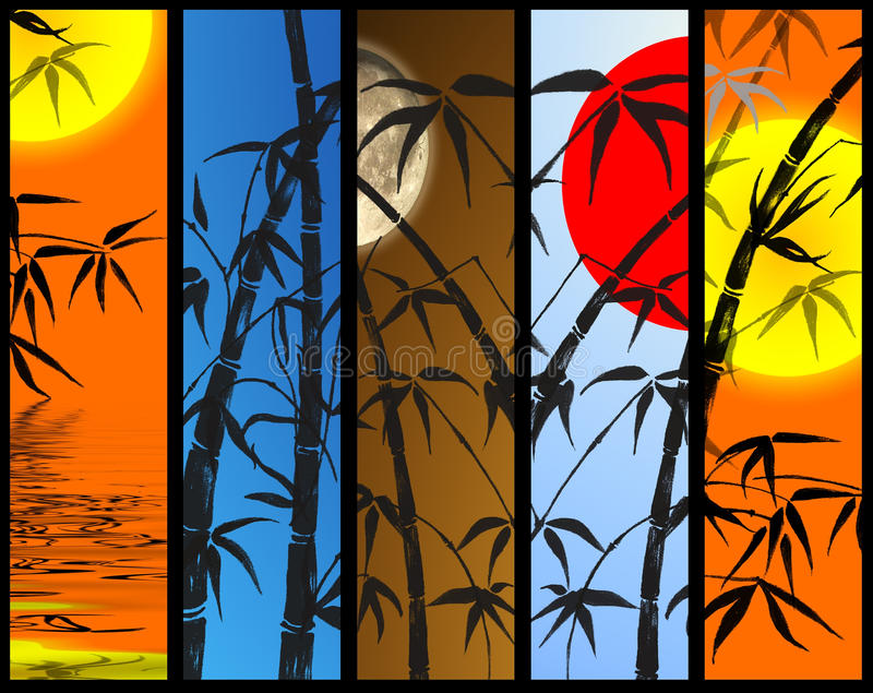 Download Vertical Banners With Bamboo Stock Illustration - Image: 11373273