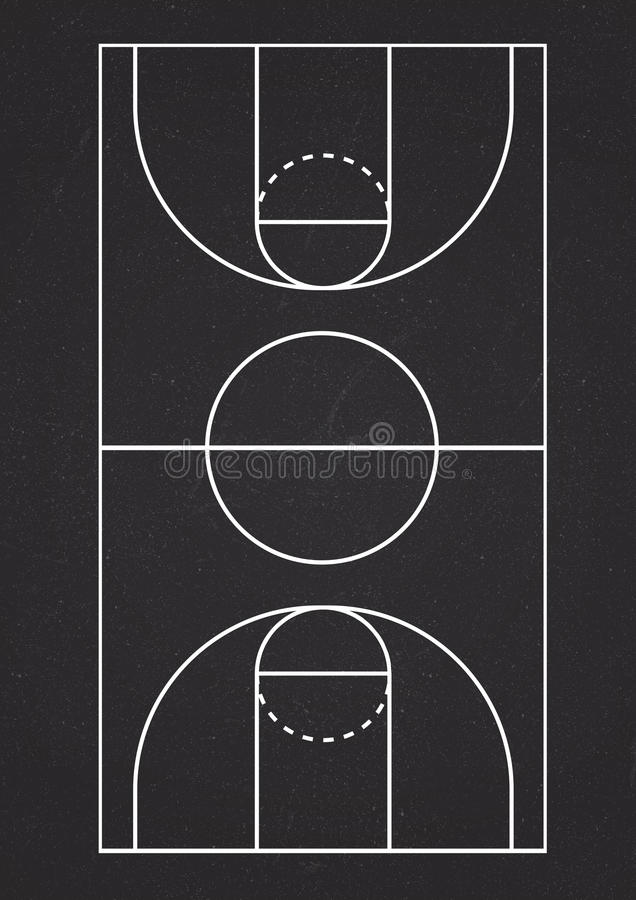 Vertical basketball court line vector royalty free stock images