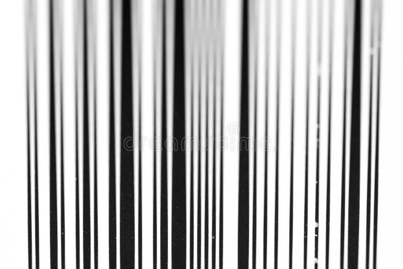 Vertical black and white bar code close up macro shot. Image for background stock photos