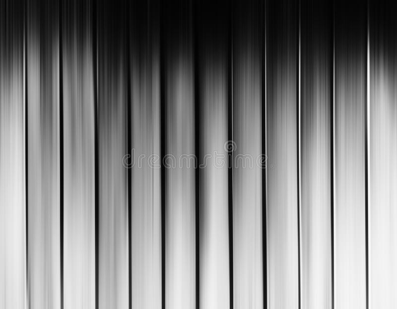 Vertical black and white motion blur curtains background royalty free illustration