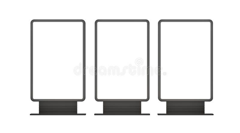 Vertical blank outdoor Lightboxes royalty free stock image