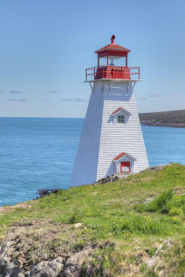 Vertical of Boar`s Head Lighthouse in Nova Scotia. A Vertical of Boar`s Head Lighthouse in Nova Scotia stock image