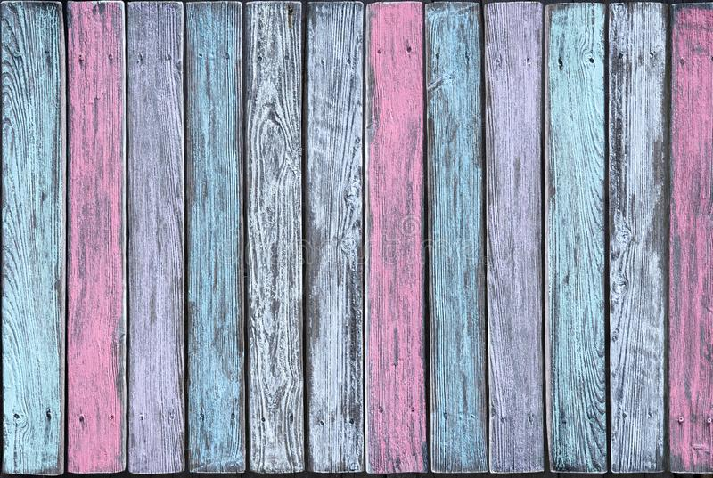 Vertical boards in different pastel shades stock images