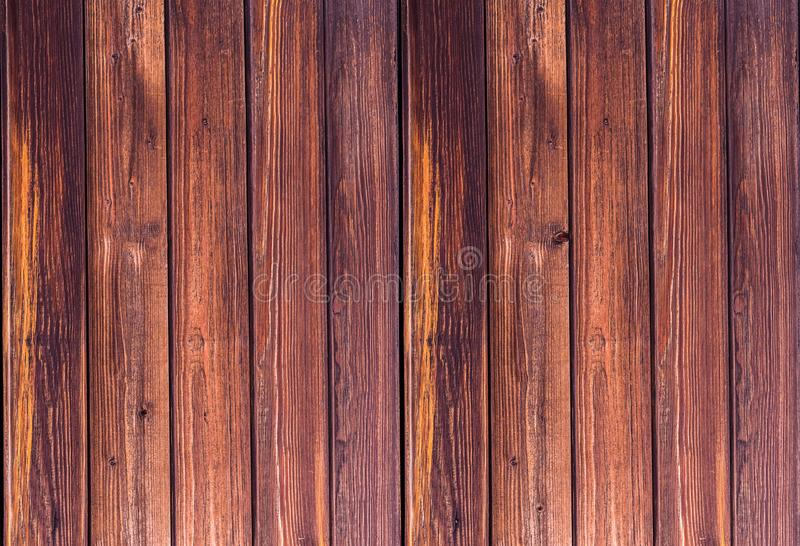 Vertical boards natural pattern, brown background natural texture. Eco base royalty free stock photo