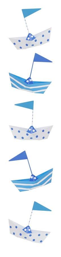 Vertical Boat Border royalty free stock photo