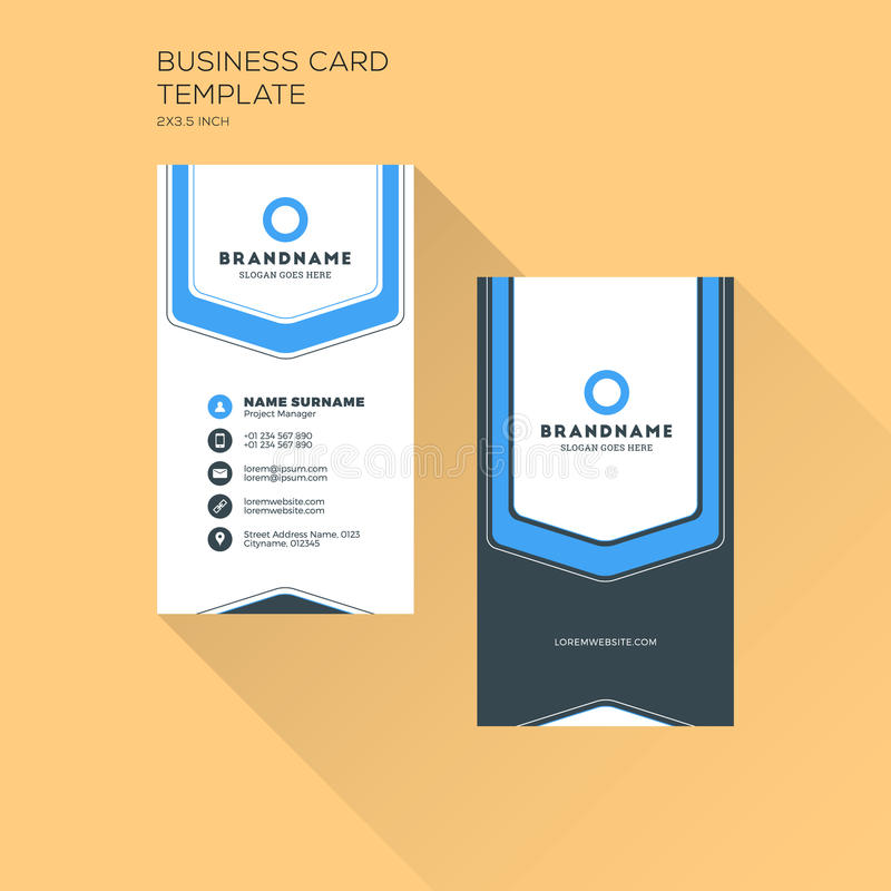 Vertical Business Card Print Template Personal Business Card - Personal business cards templates
