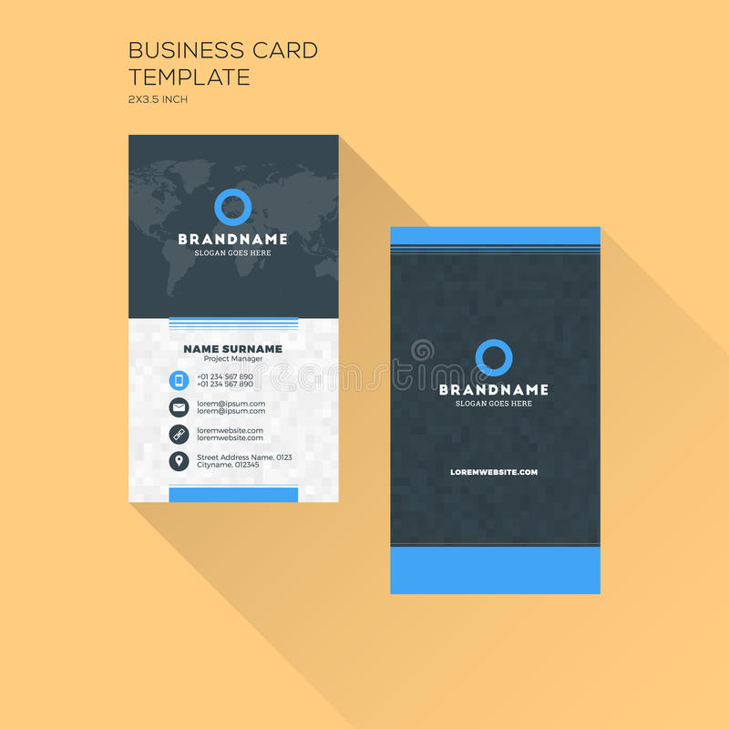 Vertical business card print template personal business card wi download vertical business card print template personal business card wi stock vector illustration of colourmoves Image collections