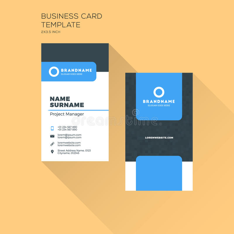 Vertical Business Card Print Template Personal Business Card Wi - Business card vertical template
