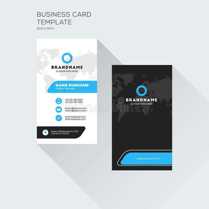 Vertical Business Card Print Template Personal Visiting Card Stock - Business card print out template