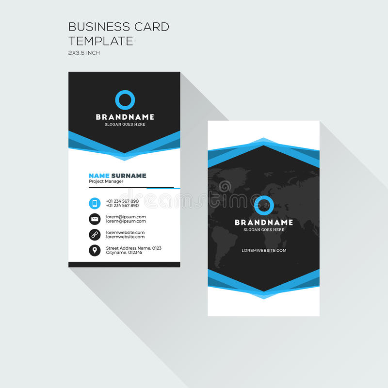 Vertical business card print template personal visiting card stock download vertical business card print template personal visiting card stock vector illustration of layout cheaphphosting Image collections