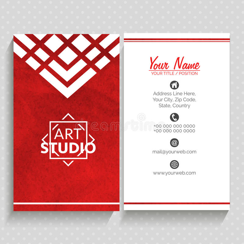 Vertical Business Card Or Visiting Card. Stock Illustration ...