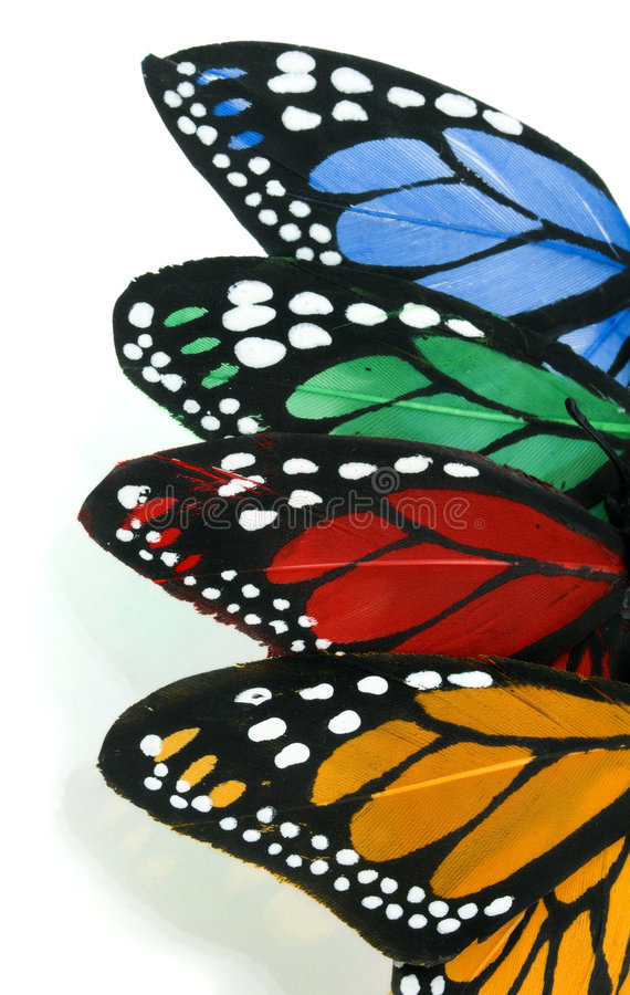 Vertical Butterfly Stack - Left royalty free stock photography