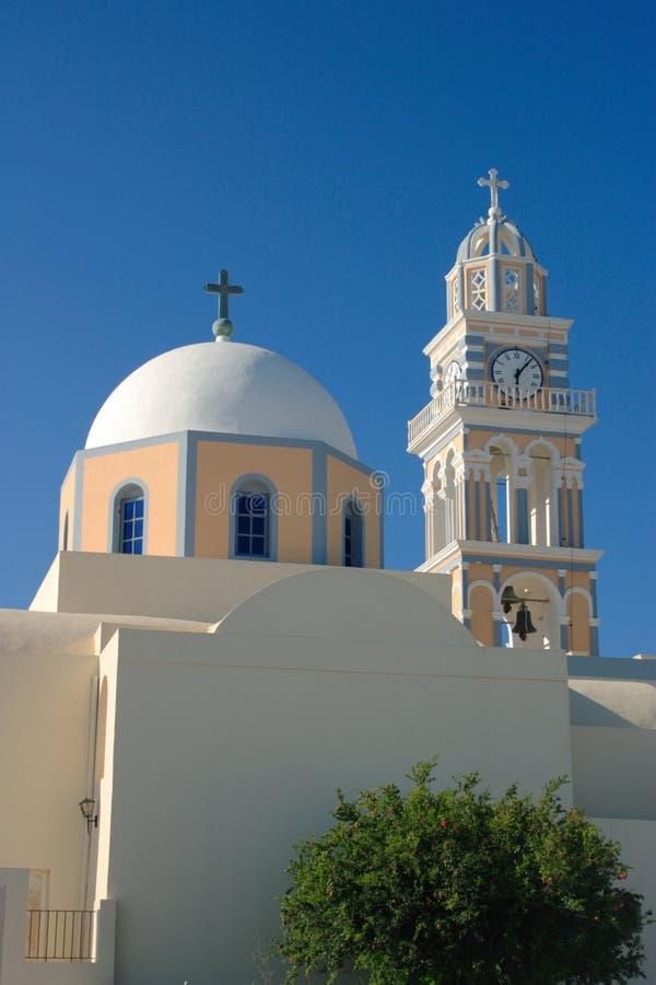 Vertical católica de la catedral fotografía de archivo