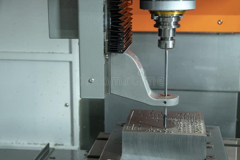 The Vertical CNC Gun-drill Machine Drilling The Mold Part