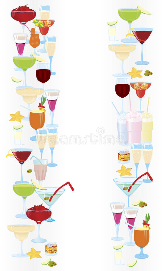 Download Vertical-cocktail-borders stock vector. Image of pineapple - 23593915