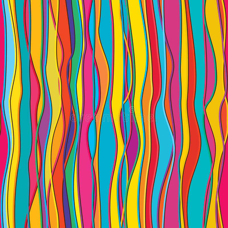 Vertical color line fill seamless pattern. This illustration is design vertical colors lines fill with colors in vertical and seamless pattern vector illustration