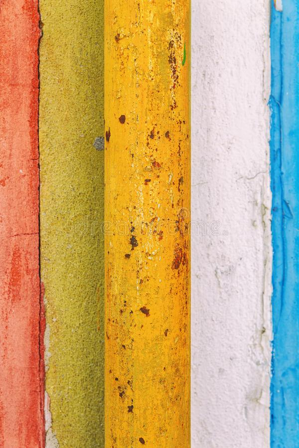 Vertical composition of colourful stripy wooden background royalty free stock images