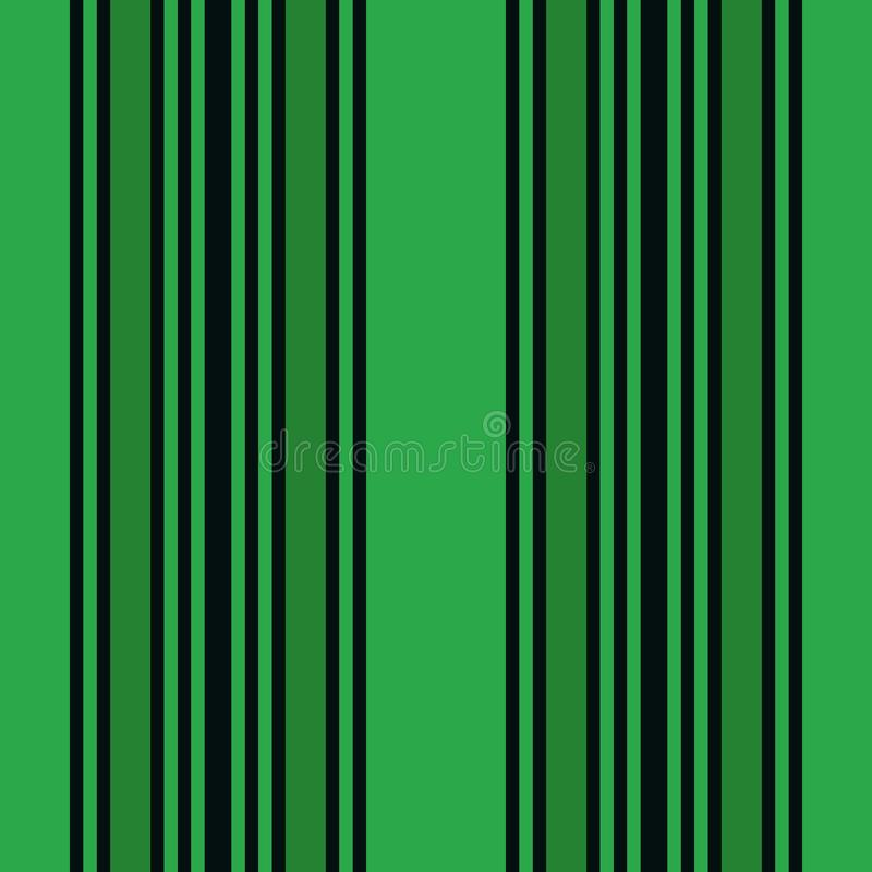 Vertical czerni i zieleni lampasów druku wektor ilustracji
