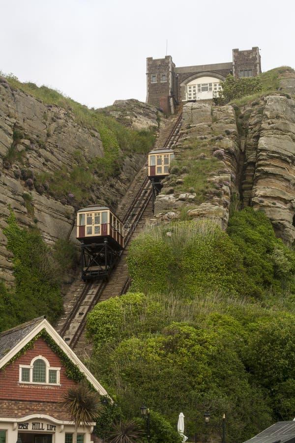 Vertical de la elevación del cable de Hastings fotos de archivo