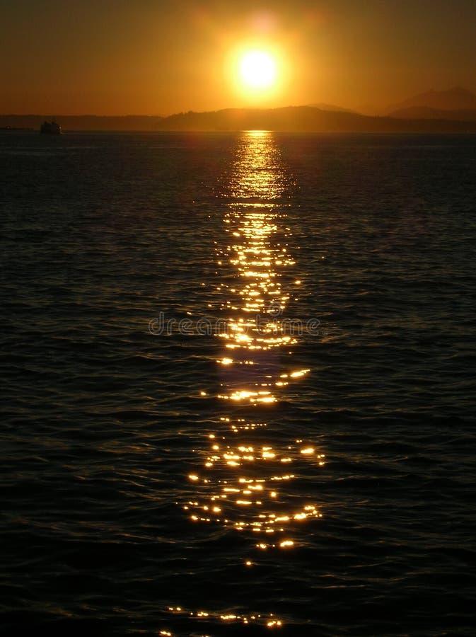 Vertical de la puesta del sol imágenes de archivo libres de regalías