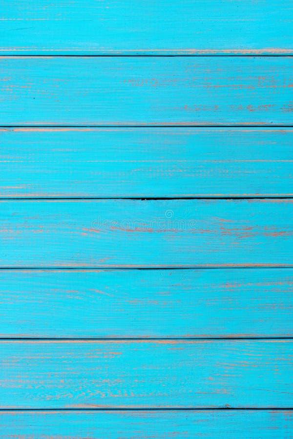 Vertical de madera azul brillante de la textura de la madera de deriva de la playa del verano del fondo imágenes de archivo libres de regalías