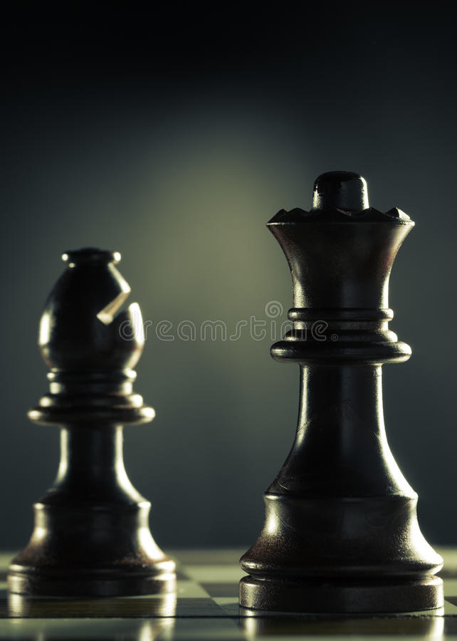 Vertical del juego de ajedrez fotografía de archivo libre de regalías