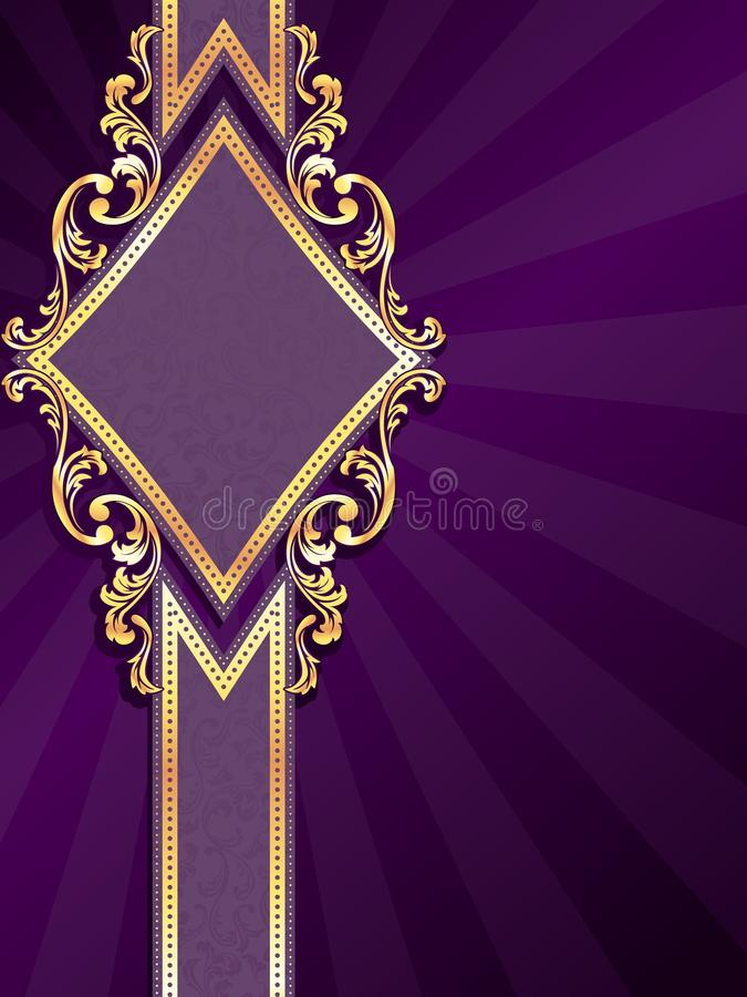 Download Vertical Diamondshaped Purple Banner With Gold Fil Stock Vector - Illustration: 15806000