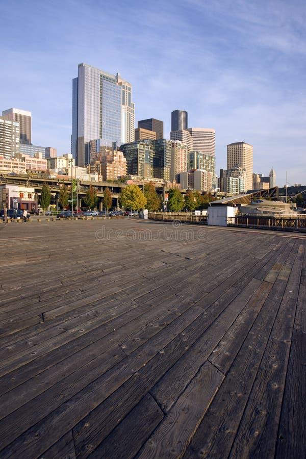Vertical do beira-rio de Seattle fotos de stock