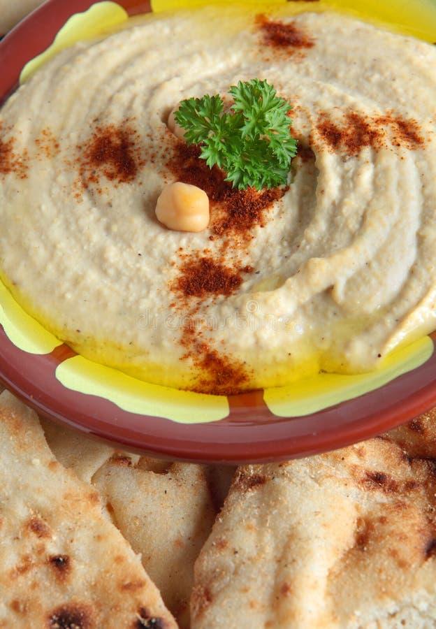 Vertical do tahini do bi de Hummus imagem de stock royalty free