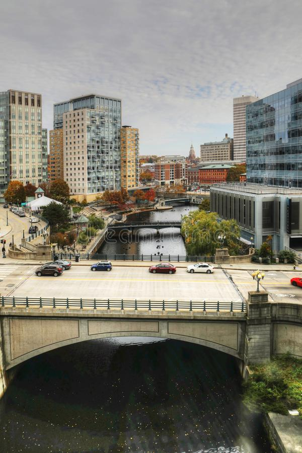 Vertical of downtown area of Providence, Rhode Island. A Vertical of downtown area of Providence, Rhode Island stock images