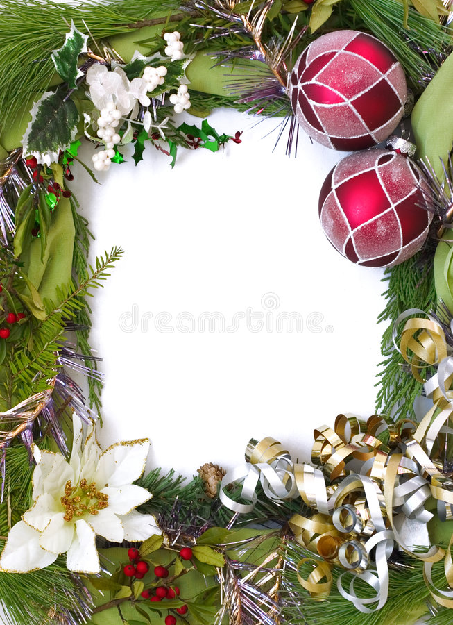 Vertical empty christmas frame royalty free stock images