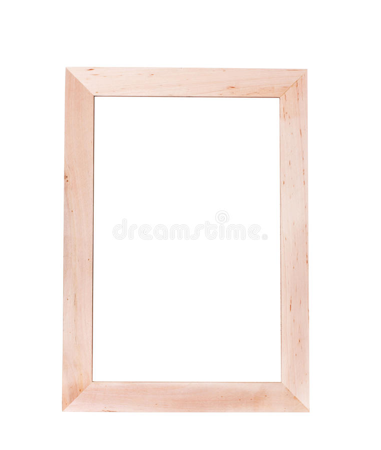 Vertical Empty Wooden Frame For Writing The Text With Blank Whit ...