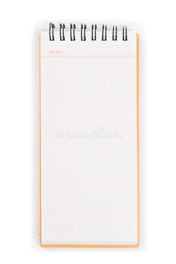 vertical för block för memo för blank räkning orange royaltyfri bild