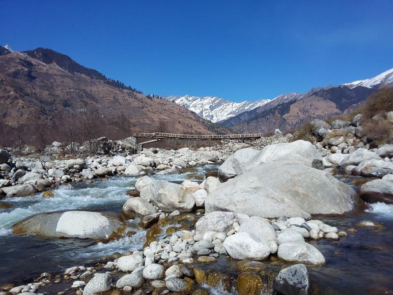 vertical för flod för panorama för berg för 3 hdrbilder arkivfoto