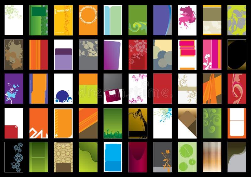 vertical för mall för affärskort royaltyfri illustrationer