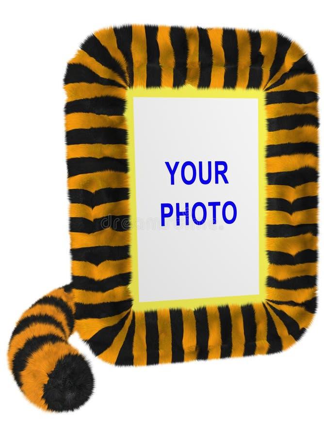vertical för ramfototiger arkivbild