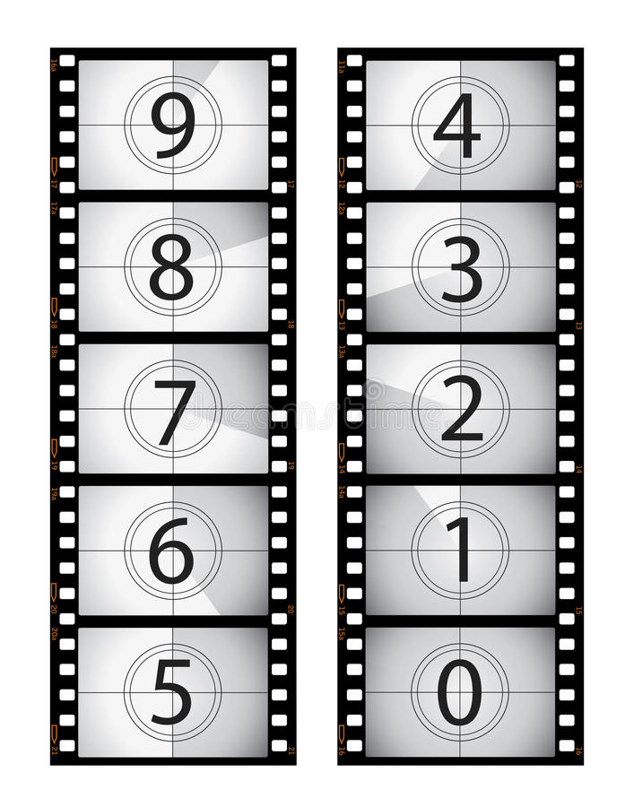 Download Vertical film countdown stock vector. Illustration of photographic - 13125925