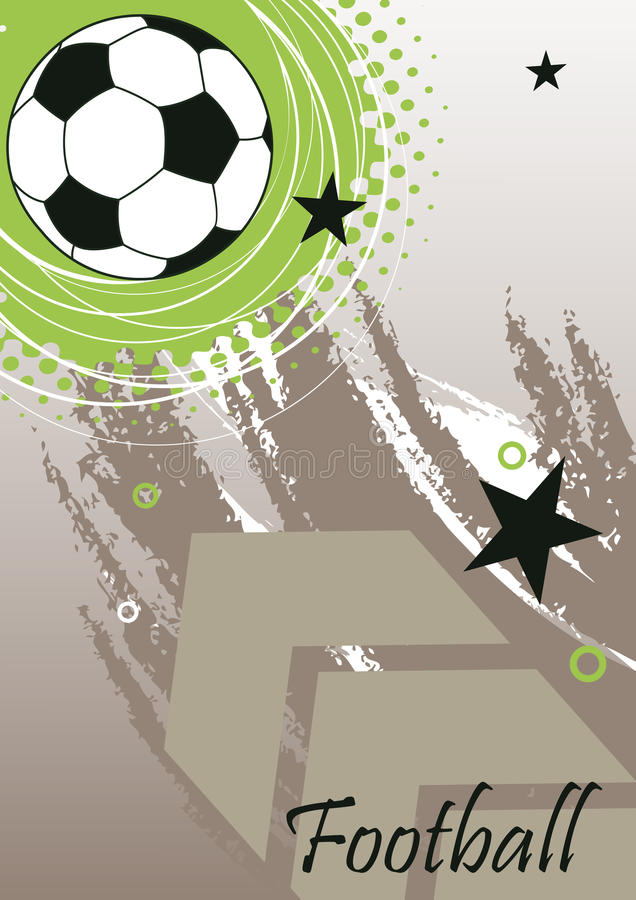 Vertical football banner with big arrow vector illustration