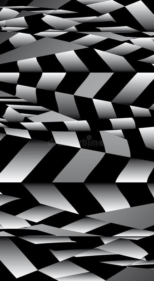 Vertical geométrico descascado sumário do fundo  ilustração stock