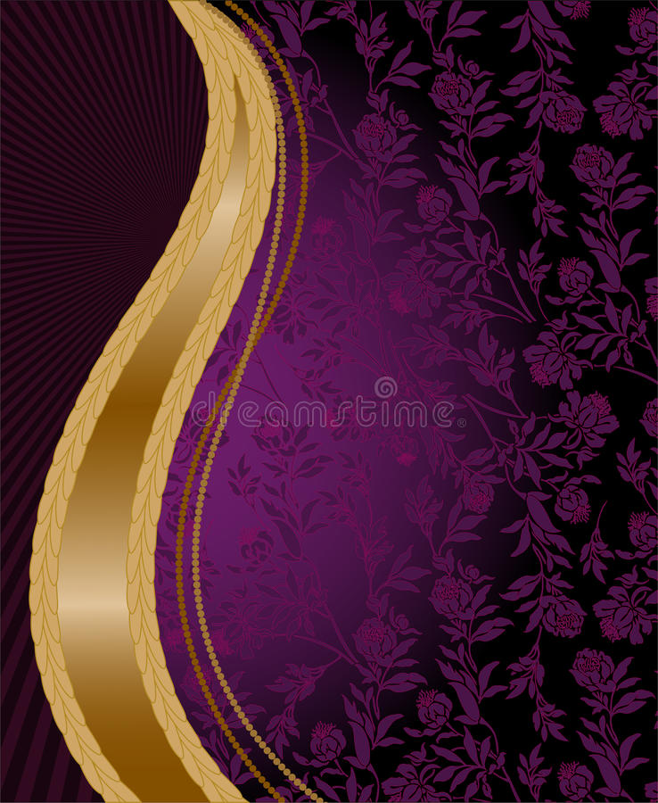 Download Vertical golden wave stock vector. Image of colorful - 19496216