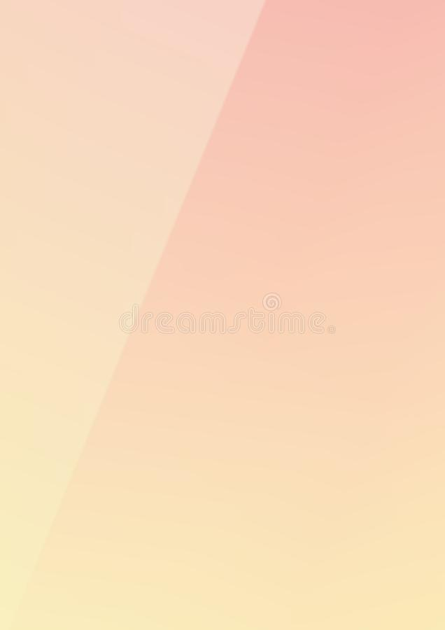 Vertical gradient pink to yellow mixed color trendy paper backgro. The Vertical gradient pink to yellow mixed color trendy paper background vector illustration