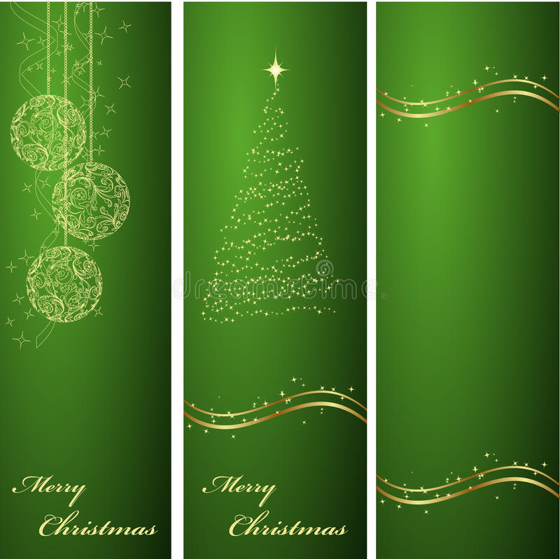 Free Vertical Green Christmas Backgrounds Stock Photography - 11700012