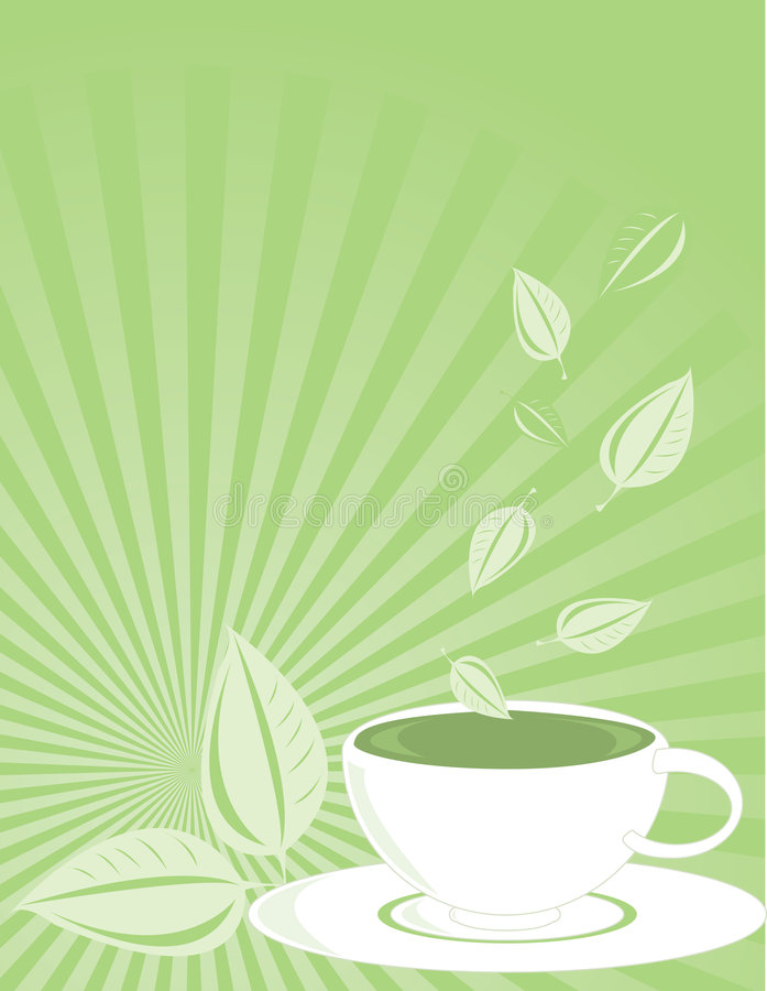 Download Vertical Green Tea Background Royalty Free Stock Photos - Image: 5679248