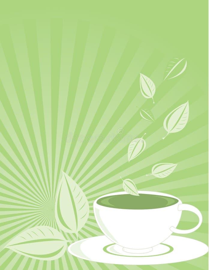 Vertical Green tea background vector illustration