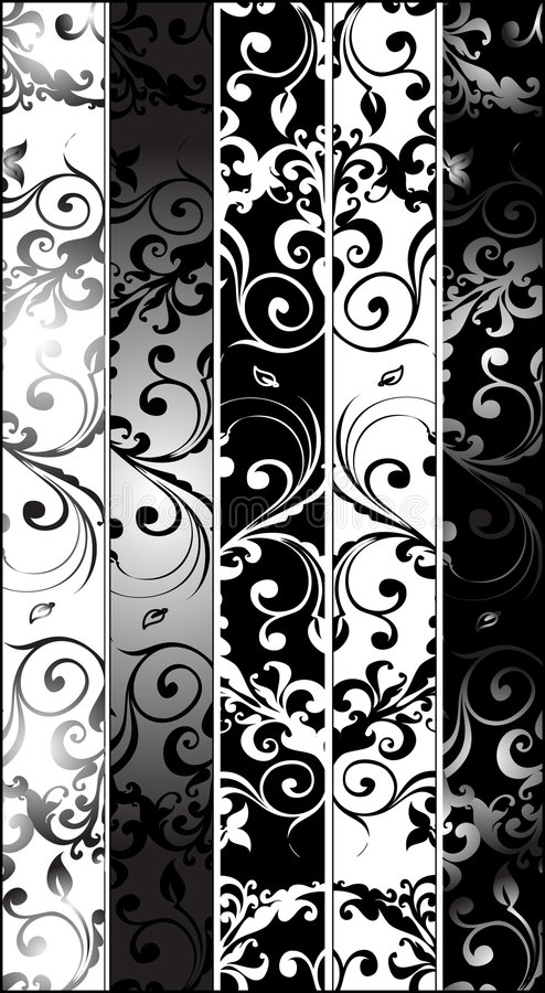 Download Vertical Greyscale Arabesques Stock Vector - Image: 8910930