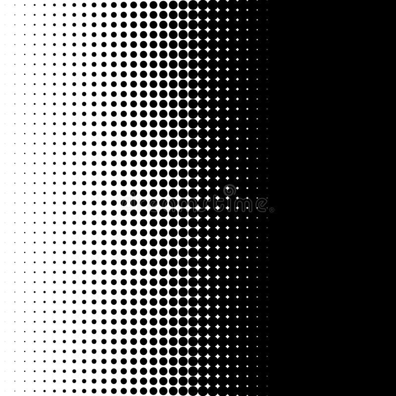 Vertical half tone pattern with dots - Monochrome halftone texture stock illustration