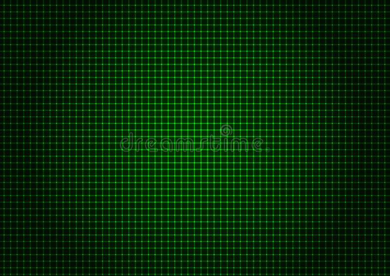 Vertical horizontal de la rejilla verde del laser ilustración del vector