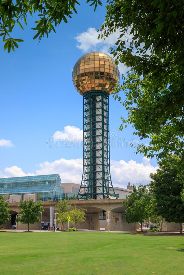 Sunsphere Landmark Knoxville Tennessee Vertical stock image