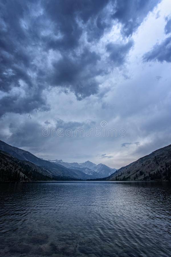 Lower Twin Lake During a Storm royalty free stock images